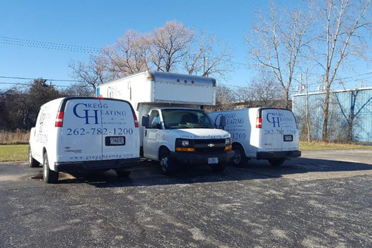 Gregg Heating and Cooling vans
